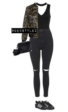 """CASUAL COLLECTION"" by roexstylez89 ❤ liked on Polyvore featuring adidas, Topshop and New Look"