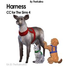 Big Packages - TheKalino - CC for your Sims Sims 4 Mods, Sims 4 Challenges, Sims Pets, Sims 4 Cc Furniture, Dog Vest, Sims 4 Custom Content, Sims Cc, Dog Harness, Cats