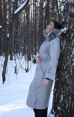 """Mantel """"Winter Muster"""", wolle. Darstellung zum Beispiel zu beschichten. Ich werde das gleiche Fell nach Ihren Messungen und Ihre Farbe"""