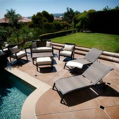 Pool Furniture Ideas 40 wrought iron patio furniture sets for a stylish outdoor area Pool Furniture
