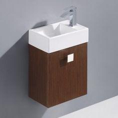 Vigo 16-inch Marina Single Bathroom Vanity - Wenge OnSale This instant : image