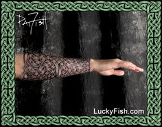 Celtic Sleeves, Tattoo Armor, and Full Knotwork Coverage Tattoos — LuckyFish, Inc. and Tattoo Santa Barbara Celtic Band Tattoo, Celtic Sleeve Tattoos, Celtic Cross Tattoos, Forearm Sleeve Tattoos, Celtic Art, Tattoo Video, Tattoo Blog, Crest Tattoo, Compass Tattoo Design