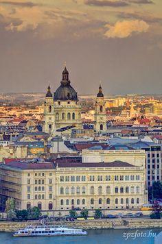 St. Stephen's Basilica in sunset #Budapest #Hungary