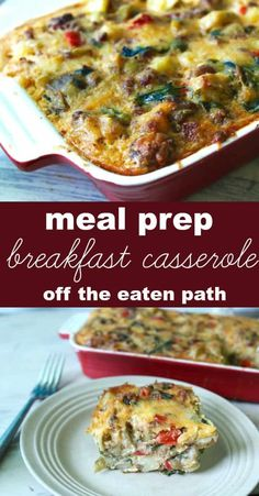 everything but the kitchen sink breakfast casserole breakfast casserole: clean out your fridge for sunday brunch or meal prep breakfast for the week! Brunch Recipes, Breakfast Recipes, Dinner Recipes, Breakfast Ideas, Health Breakfast, Tailgating Recipes, Vegetarian Breakfast, Savory Breakfast, Easy Weeknight Meals