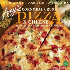 All Natural Food Zone: Food Review #28 Amy's Kitchen Three Cheese Pizza with Cornmeal Crust