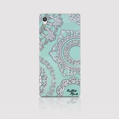 Sony Xperia Z5 Case  Lace & Mint P00006 by rabbitmint on Etsy