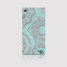 Sony Xperia Z5 Case  Lace & Mint P00006 by rabbitmint on Etsy
