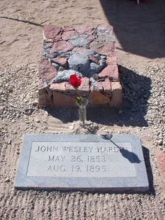John Wesley Hardin - Western Outlaw. He was famous as the most profligate killers in the Old West. He is believed to have killed a total of 44 men over the course of his lifetime, all of them before he reached the age of 23.