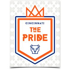 """Showyour fandom with this official stickerof The Pride: FC Cincinnati Supporters Group. Die cut to approximately 4"""" high x 3"""" wide. Printed on a white backgr"""