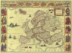 Antique Map Europe- Would love to have something like this framed as art.