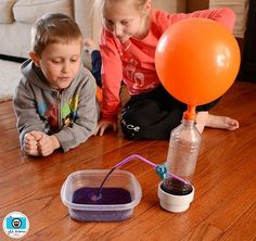"use a balloon to ""air"" power a fountain."