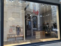 il gufo window display ,Kids clothing shop AW 2014 || Milano Wooden swing and wire clouds   windowdisplaydesign.tumblr.com http://goo.gl/zV2xiK