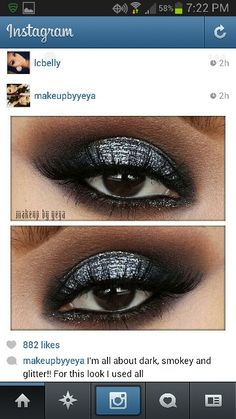 Shimmery and smokey