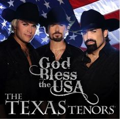 "The Texas Tenors will be giving away a FREE CD of ""God Bless The USA"" with each ticket purchased fo0r their limited engagement at The Starlite Theatre in Branson, MO May 30-June 9. www.starlitetheatre.com"