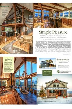 CABIN IDEA FOR CEDAR Small barn home, Moose Ridge Lodge, wins big - Best Home in Timber Home Living's Best of 2016 Awards! Visit to see more on this house, including floor plans. Small Barn Home, Small Barns, Barn House Plans, Cabin Plans, Shop House Plans, Metal Building Homes, Building A House, Building Ideas, Metal Homes Plans