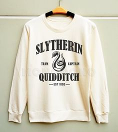 S M L -- Slytherin Shirts Harry Potter Shirts Slytherin Quidditch Sweatshirt Jumpers Long Sleeve Sweater Unisex Shirt Women Shirt Men Shirt on Etsy, $29.00