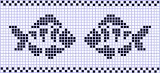 Ideas Knitting Charts Fish Fair Isles For 2019 Beaded Cross Stitch, Cross Stitch Baby, Cross Stitch Animals, Cross Stitch Embroidery, Cross Stitch Patterns, Fair Isle Knitting Patterns, Knitting Charts, Fair Isle Chart, Filet Crochet Charts