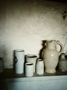 Emma Bridgewaters shelf.. one of many around her house filled with fantastic,unusual and quirky pots!
