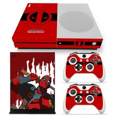 Deadpool Xbox One S 14 sticker console decal xbox one controller vinyl skin Xbox One Video, Xbox One S, Best Superhero, Superhero Design, First Video Game, Xbox One Console, Xbox One Controller, Vector Design, Colors