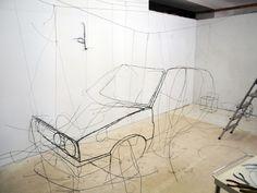 Sculptures en fils de fer by Fritz Panzer Sculptures Sur Fil, Wire Sculptures, Sculpture Images, Art Cube, Artistic Installation, Digital Museum, Elements Of Art, Wire Art, Art Object