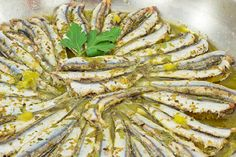 Γαύρος με λεμόνι και ρίγανη στο φούρνο Asparagus, Green Beans, Vegetables, Food, Studs, Essen, Vegetable Recipes, Meals, Yemek
