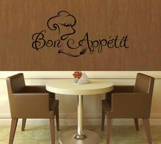 Bon Appetit Wall Decal   11 x 23  Choose your by lyricalletters, $15.00