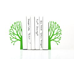 Bookends  Green Spring  laser cut for by DesignAtelierArticle, $49.00