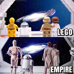 Only traitors would choose bottom. Follow @brickinspired for more #LEGO inspiration! #brickinspired Amazing Lego Creations, Lego Mecha, Lego Brick, Empire, Star Wars, Stars, Movies, Movie Posters, Inspiration