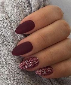 Nageldesign 36 Adorable Fall Nail Art Designs That Fully Beautify Your Look Kitchen Islands Anchor A Prom Nails, My Nails, Cute Acrylic Nails, Glitter Nail Art, Red Glitter, Fall Nail Art Designs, Neutral Nail Designs, Sparkle Nails, Nagel Gel