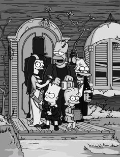 The Simpson as The Munsters
