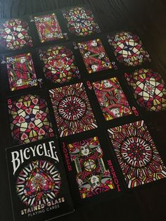 Stained Glass Cool Playing Cards, Playing Card Games, Cool Cards, Bicycle Cards, Bicycle Playing Cards, Haus Of Cards, Arte Steampunk, Joker Card, Cool Deck