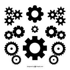 Engrenagens do vetor download gratuito Vetor grátis