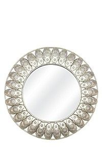 PUNCHED TIN ROUND MIRROR
