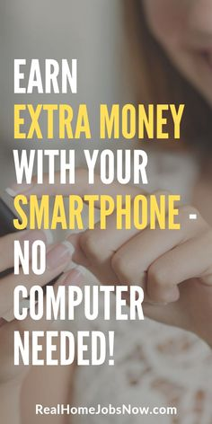 Make extra money from home with smartphone apps! You can make quick, extra money with no computer needed and no set schedule. These opportunities are perfect for beginners or anyone who just wants start today earning extra money online! Earn Extra Money Online, Earn Money Fast, Earn Money From Home, Way To Make Money, How To Make, Money Machine, Making Extra Cash, Financial Tips, Work From Home Jobs
