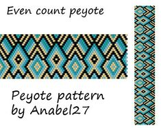 Peyote pattern  beadwork   peyote cuff   bead by Anabel27shop