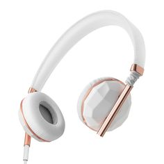 Caeden Headphones & Earbuds in rosegold, white and black