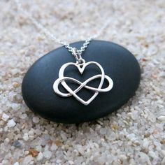 Infinity Heart Necklace, Sterling Silver Infinity Heart Charm, Love Jewelry, Infinity Jewelry by MahaloSpirit on Etsy https://www.etsy.com/listing/202555390/infinity-heart-necklace-sterling-silver