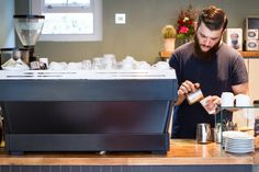 The new La Marzocco PB at Climpson's Cafe