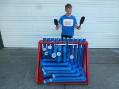 Build your own musical instrument out of PVC and play your favorite songs.
