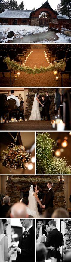 five pine lodge weddings Winter Wedding in Oregon