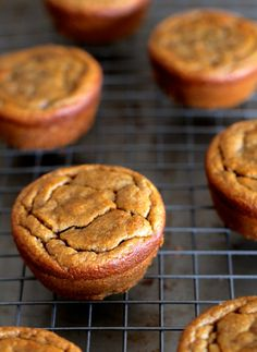 Flourless Banana Bread Muffins -- gluten-free, sugar-free, dairy-free, and oil-free    runningwithspoons.com. (try with egg sub)