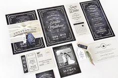Vous cherchez une papeterie de mariage vintage et effet ardoise ? La collection…