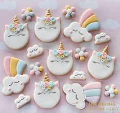 """572 Likes, 38 Comments - Natalia Campbell (@cookielicious_nz) on Instagram: """"Because unicorns makes me happy I need these cookies as it's been so dreary around here, winter…"""""""