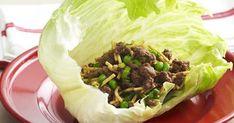 Canned Tuna Recipes, Pork Recipes, Asian Recipes, Chicken Recipes, San Choy Bow Recipe, Gozleme Recipe, Chicken Satay Skewers, Crispy Beef, Lettuce Wrap Recipes