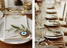 """treat your guests with a traditional wedding favour. Offer them the """" evil eye"""" so the bad vibes stay away. Golden details wedding 