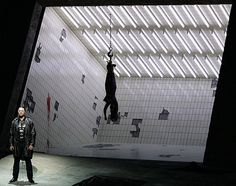 "Rene Pape (Orest) during a dress rehearsal of ""Elektra"" in Salzburg, opening on August 12, to be conducted by Daniele Gatti, directed by Nikolaus Lehnhoff. Stage design by Raimund Bauer."