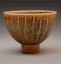 John Dermer, Scalloped Porcelain Bowl. Salt-glaze.