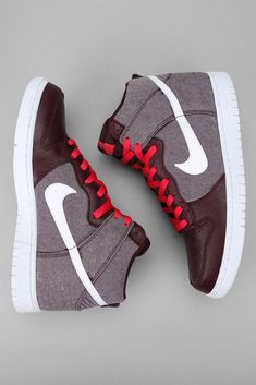 Brand New Nike Dunk High Size 8.5 Red Mahogany White 317982 607 #Nike #AthleticSneakers