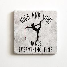 Namaste deep breath in and out then pour a glass after yoga class These unique marble coasters will be a perfect perfect accessory to a glass of wine Even when not in use. Bikram Yoga, Ashtanga Yoga, Yoga Meditation, Zen Yoga, Meditation Quotes, Meditation Space, Yoga Flow, Yoga Inspiration, Fitness Inspiration