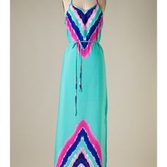 Maxi dress Ikat kinda print, never worn Dresses Maxi